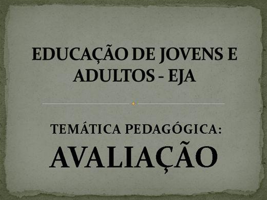 Curso Online de AVALIAÇÃO NA EDUCAÇÃO DE JOVENS E ADULTOS