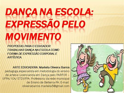 Curso Online de DANÇA NA ESCOLA-EXPRESSÃO PELO MOVIMENTO
