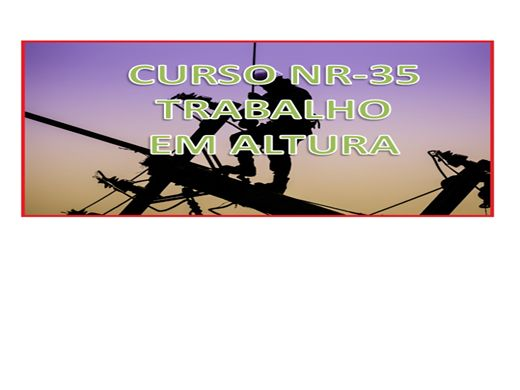 Curso Online de CURSO BÁSICO NR 35