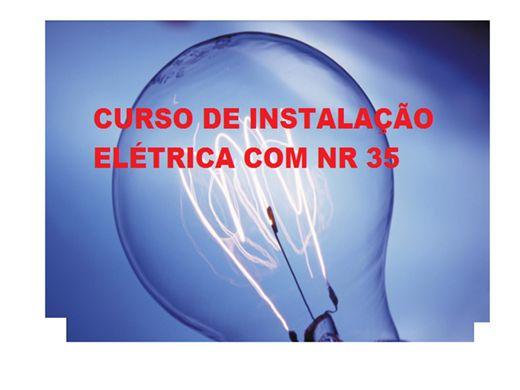 Curso Online de CURSO DE INSTALAÇÕES ELETRICA COM NR 35