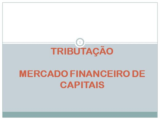 Curso Online de tributação