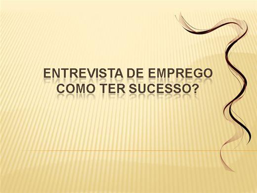 Curso Online de Como ter Sucesso na Entrevista de Emprego