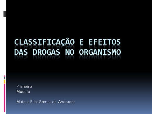 Curso Online de Classificação das drogas e Efeitos no organismo