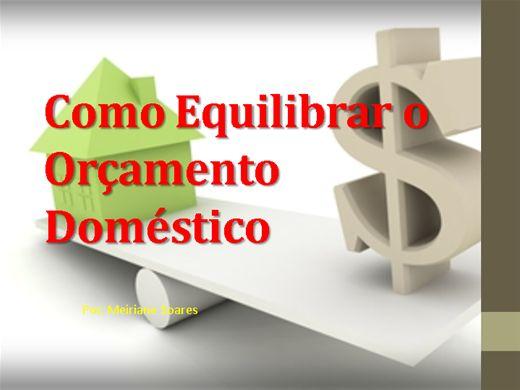 Curso Online de Como equilibrar o orçamento domestico