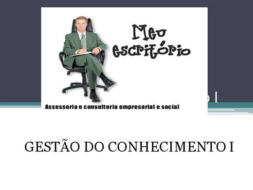 Curso Online de GESTÃO DO CONHECIMENTO I