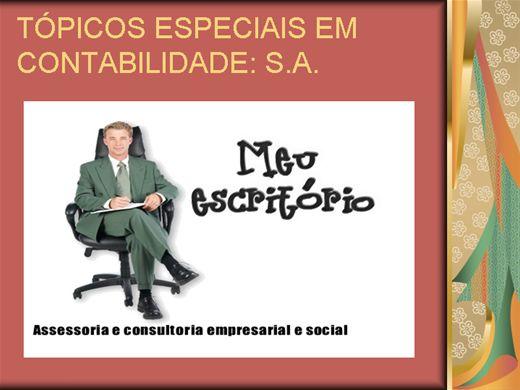 Curso Online de TÓPICOS ESPECIAIS EM CONTABILIDADE: SOCIEDADE ANÔNIMA