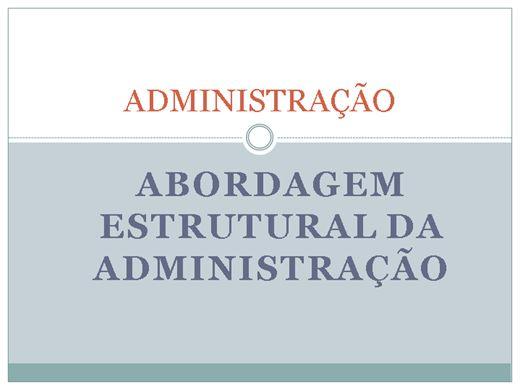 Curso Online de ADMINISTRAÇÃO ABORDAGEM: ESTRUTURAL