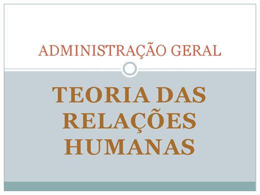 Curso Online de ADMINISTRAÇÃO: TEORIA DAS RELAÇÕES HUMANAS
