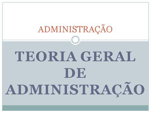 Curso Online de ADMINISTRAÇÃO: TEORIA GERAL DA ADMINISTRAÇÃO