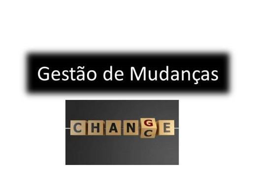 Curso Online de GESTÃO DE MUDANÇAS