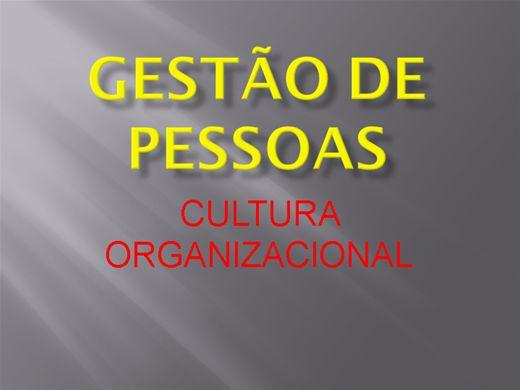 Curso Online de GESTÃO DE CULTURA ORGANIZACIONAL
