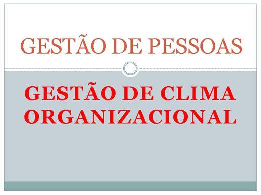 Curso Online de GESTÃO DE CLIMA ORGANIZACIONAL