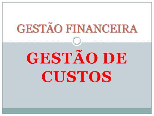 Curso Online de GESTÃO DE CUSTOS