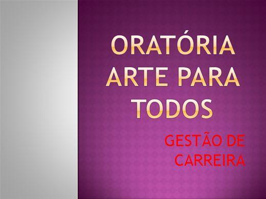 Curso Online de ORATÓRIA: ARTE PARA TODOS