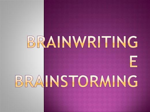 Curso Online de Brainwriting e Brainstorming