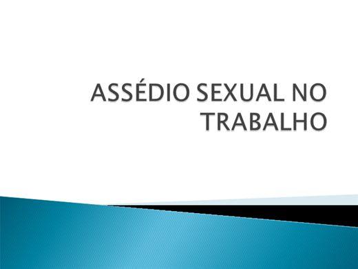 Curso Online de ASSÉDIO SEXUAL NO TRABALHO