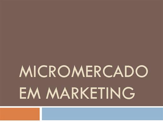 Curso Online de MICROMERCADO EM MARKETING
