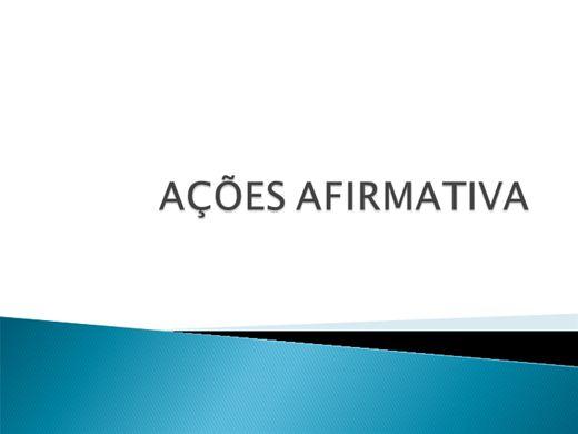 Curso Online de AÇÕES AFIRMATIVAS