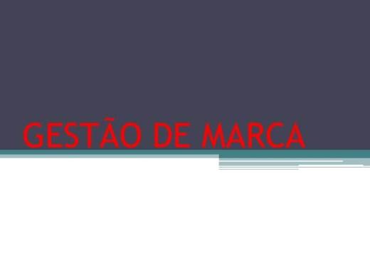 Curso Online de GESTÃO DE MARCA