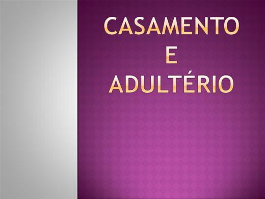 Curso Online de CASAMENTO E ADULTÉRIO