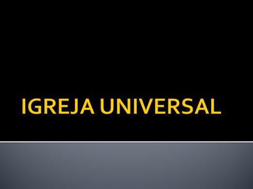 Curso Online de IGREJA UNIVERSAL
