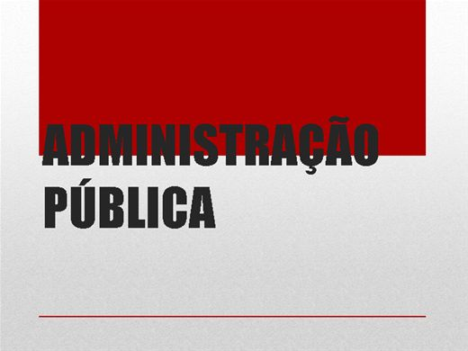 Curso Online de Administração Pública