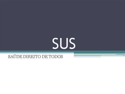 Curso Online de SUS: DIREITOS DE TODOS