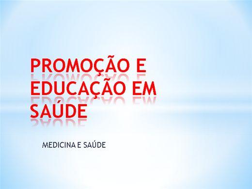 Curso Online de PROMOÇÃO EM SAÚDE