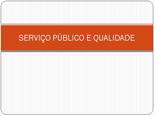Curso Online de SERVIÇO PUBLICO E QUALIDADE