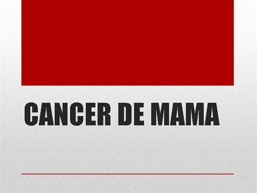 Curso Online de CÃNCER DE MAMA