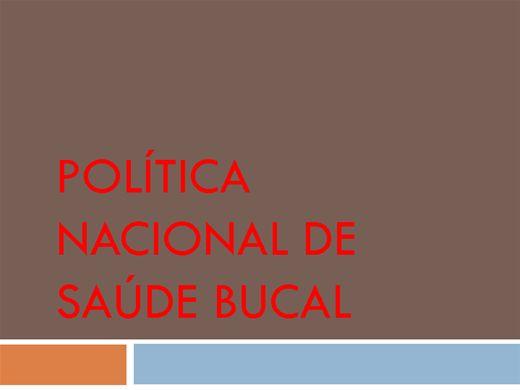 Curso Online de POLÍTICA NACIONAL DE SAÚDE BUCAL