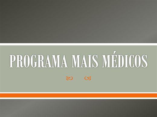 Curso Online de PROGRAMA MAIS MÉDICOS