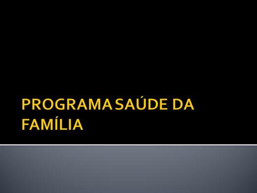 Curso Online de PROGRAMA SAÚDE DA FAMÍLIA