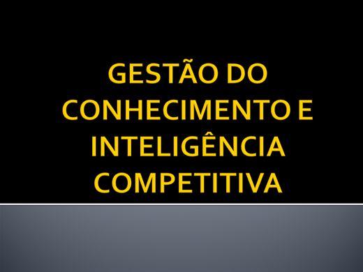 Curso Online de GESTÃO DO CONHECIMENTO E INTELIGÊNCIA COMPETITIVA