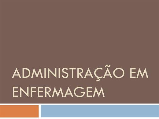 Curso Online de ADMINISTRAÇÃO EM ENFERMAGEM