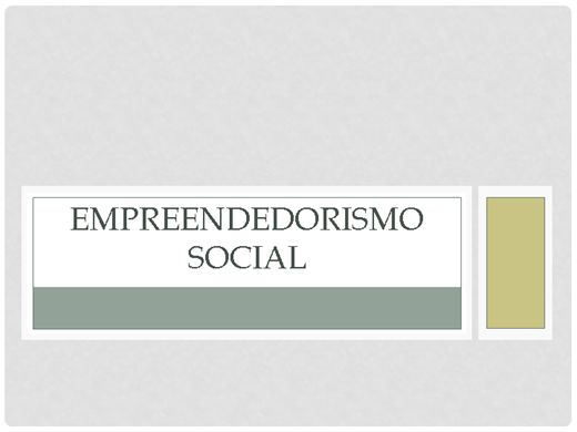 Curso Online de EMPREENDEDORISMO SOCIAL