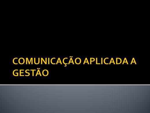 Curso Online de COMUNICAÇÃO APLICADA A GESTÃO