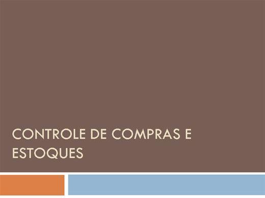 Curso Online de CONTROLE DE COMPRAS E ESTOQUES
