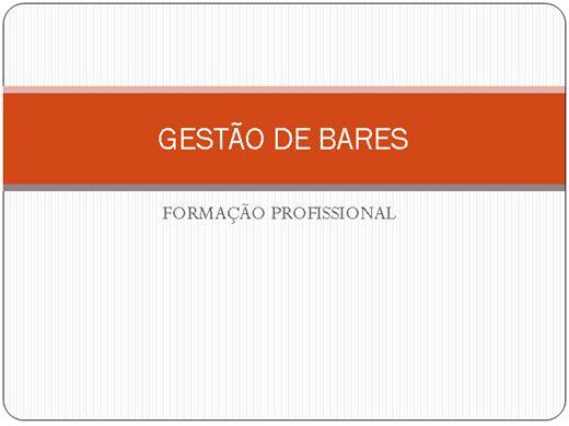 Curso Online de GESTÃO DE BARES