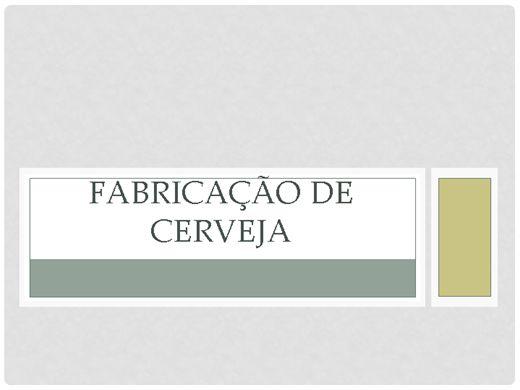 Curso Online de ARTE DE FAZER CERVEJA