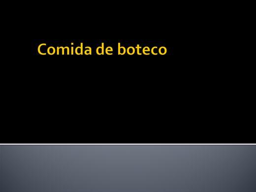 Curso Online de COMIDA DE BOTECO 01