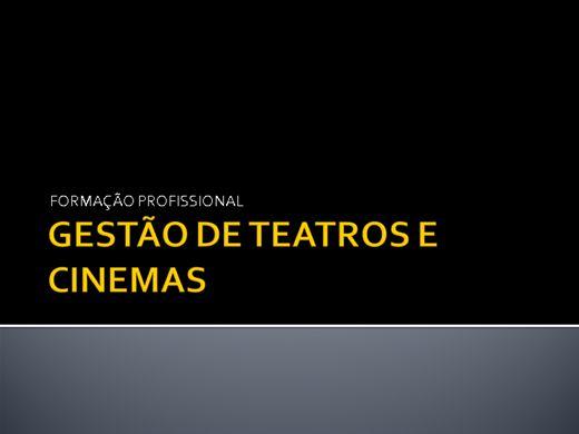 Curso Online de GESTÃO DE TEATRO E CINEMA