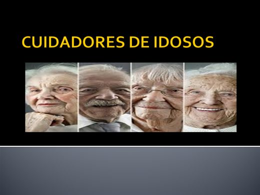 Curso Online de CUIDADORES DE IDOSOS
