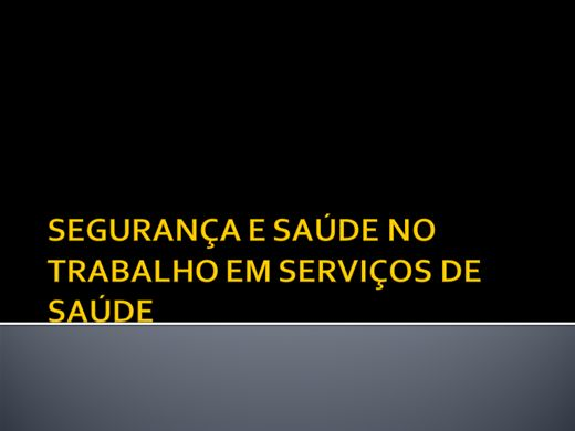 Curso Online de SAÚDE E SEGURANÇA NOS SERVIÇOS  DE SAÚDE
