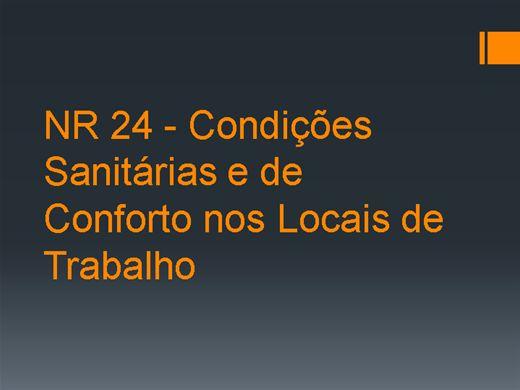 Curso Online de NR 24 - Condições Sanitárias e de Conforto nos Locais de Trabalho