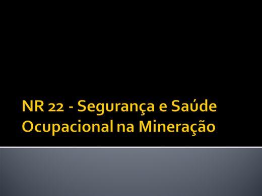 Curso Online de NR 22 - Segurança e Saúde Ocupacional na Mineração