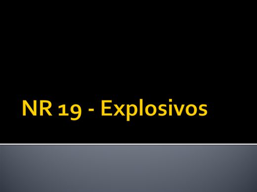 Curso Online de NR 19 - Explosivos