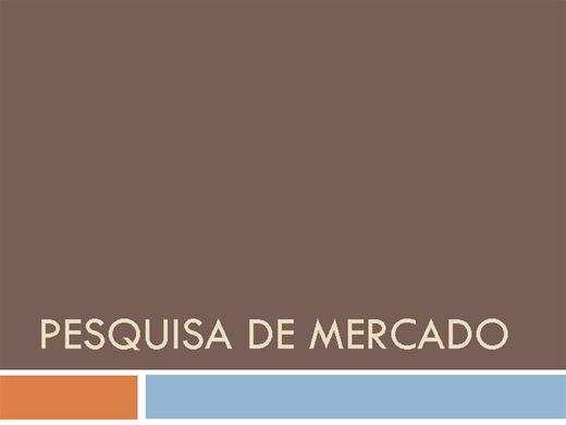 Curso Online de PESQUISA DE MERCADO I