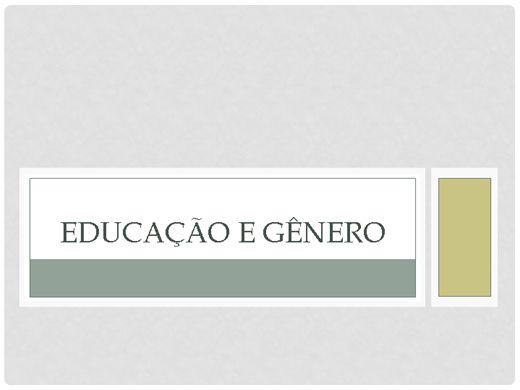 Curso Online de EDUCAÇÃO E GÊNERO