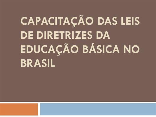 Curso Online de Capacitação das Leis de Diretrizes da Educação Básica no Brasil